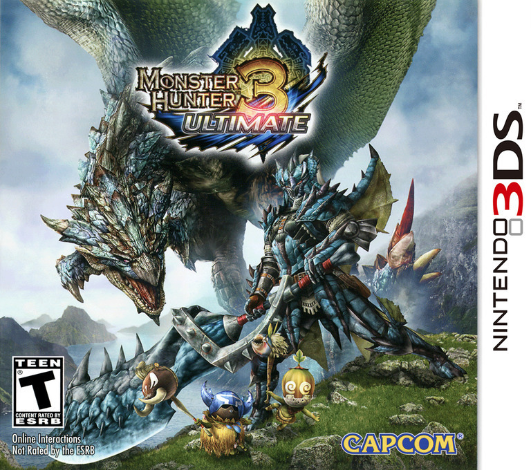 Monster Hunter 3 Ultimate 3DS coverHQB (AMHE)