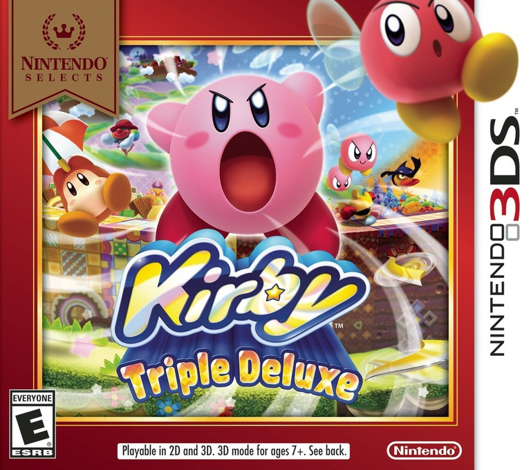 Kirby - Triple Deluxe 3DS coverHQB (BALE)