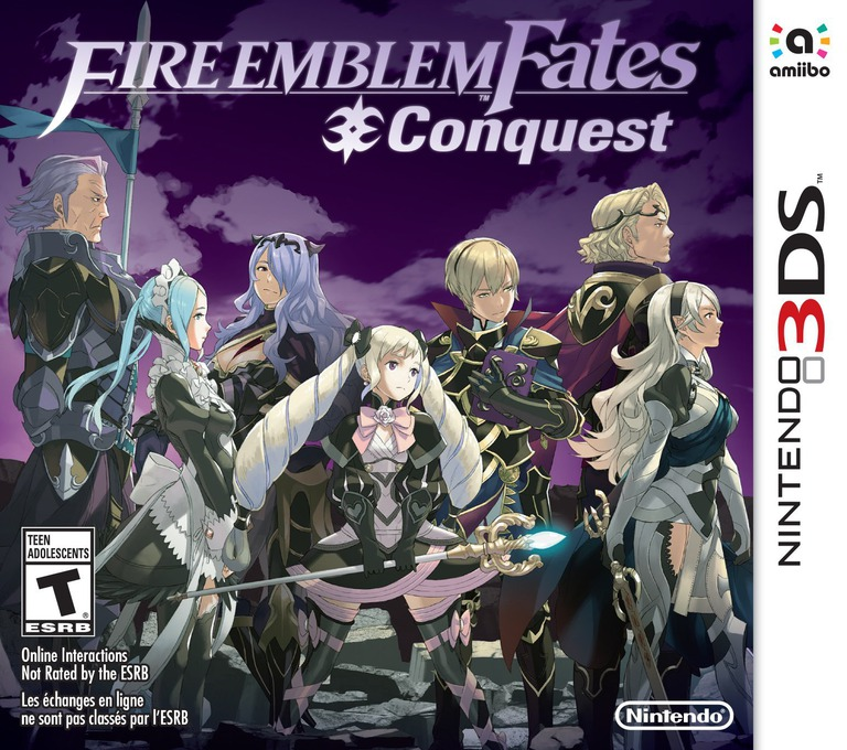 Fire Emblem Fates - Conquest 3DS coverHQB (BFYE)