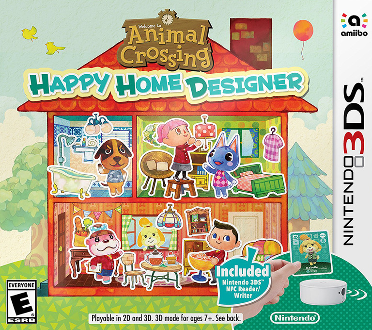 Animal Crossing - Happy Home Designer 3DS coverHQB (EDHE)