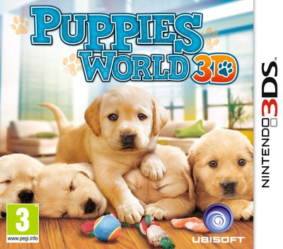 Puppies World 3D 3DS coverM (ACTP)