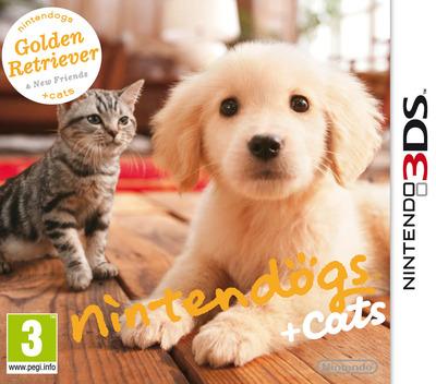 Nintendogs + Cats - Golden Retriever & New Friends 3DS coverM (ADAP)