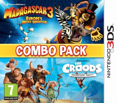 The Combo Pack - Madagascar 3 - Europe's Most Wanted + Croods - Prehistoric Party! 3DS coverM (AGCP)