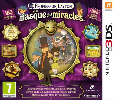 Professeur Layton et le Masque des Miracles 3DS coverM (AKKF)