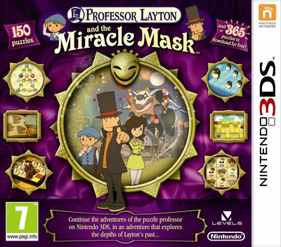 Professor Layton and the Miracle Mask 3DS coverM (AKKP)