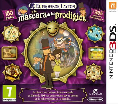 El Profesor Layton y la Mascara de los Prodigios 3DS coverM (AKKS)
