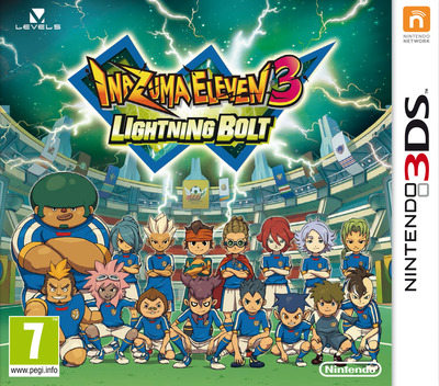 Inazuma Eleven 3 - Lightning Bolt 3DS coverM (AXSZ)