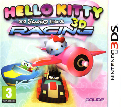 Hello Kitty and Sanrio Friends 3D Racing 3DS coverM (BKYP)