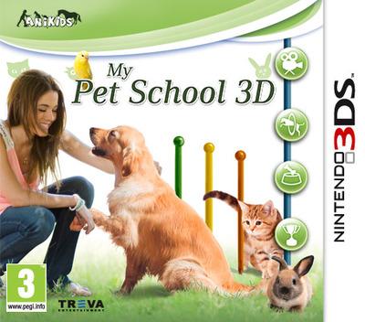 My Pet School 3D 3DS coverM (BM6P)