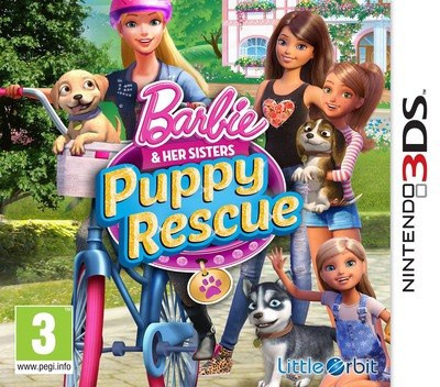 Barbie & Her Sisters - Puppy Rescue 3DS coverM (BRQZ)
