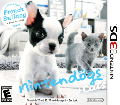 Nintendogs + Cats - French Bulldog & New Friends 3DS coverM (ADBE)