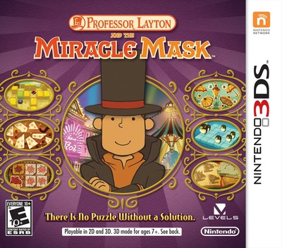 Professor Layton and the Miracle Mask 3DS coverM (AKKE)