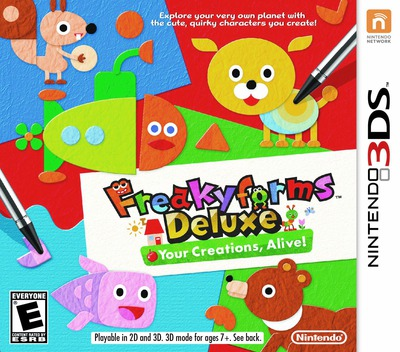 Freakyforms Deluxe - Your Creations, Alive! 3DS coverM (ATQE)