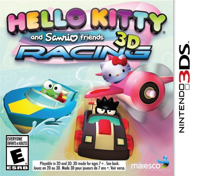 Hello Kitty and Sanrio Friends 3D Racing 3DS coverM (BKYE)