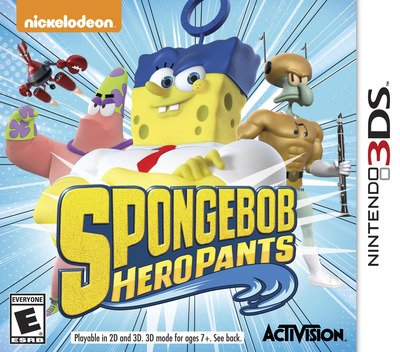 SpongeBob HeroPants 3DS coverM (BPNE)