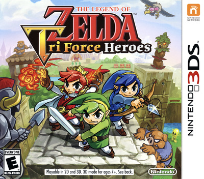 The Legend of Zelda - Tri Force Heroes 3DS coverM (EA3E)