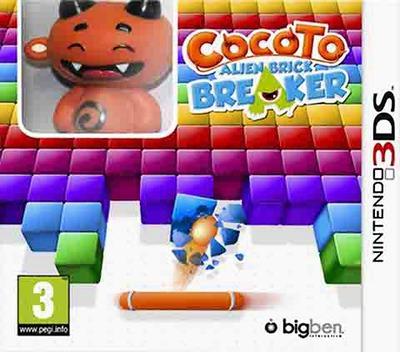 Cocoto - Alien Brick Breaker 3DS coverMB (AB7P)
