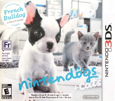 Nintendogs + Cats - French Bulldog & New Friends 3DS coverMB (ADBE)