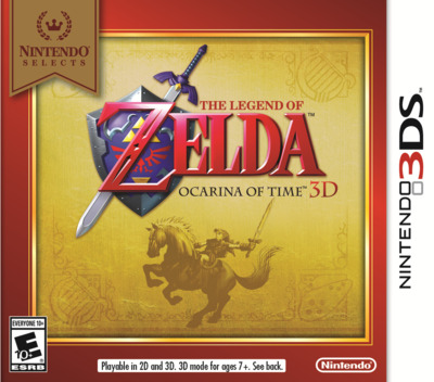 The Legend of Zelda - Ocarina of Time 3D 3DS coverMB (AQEE)