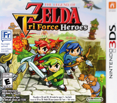 The Legend of Zelda - Tri Force Heroes 3DS coverMB (EA3E)