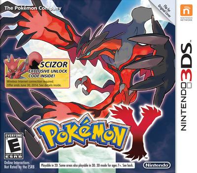 Pokémon Y 3DS coverMB (EK2A)