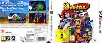 Shantae and the Pirate's Curse 3DS cover (AJAP)