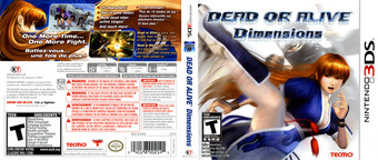 Dead or Alive - Dimensions 3DS cover (ADDE)