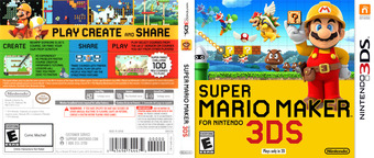 Super Mario Maker for Nintendo 3DS 3DS cover (AJHE)