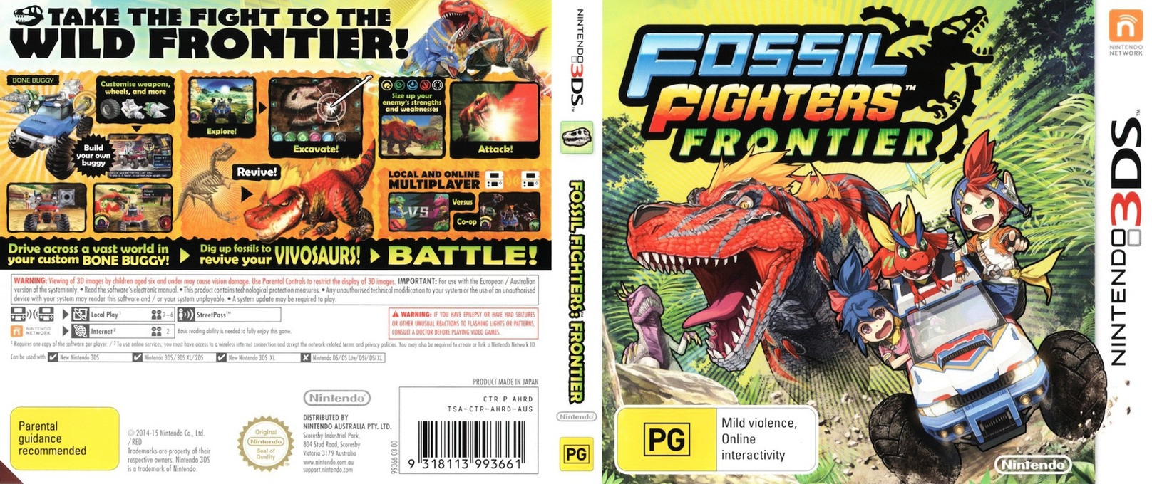 Fossil Fighters - Frontier 3DS coverfullHQ (AHRD)
