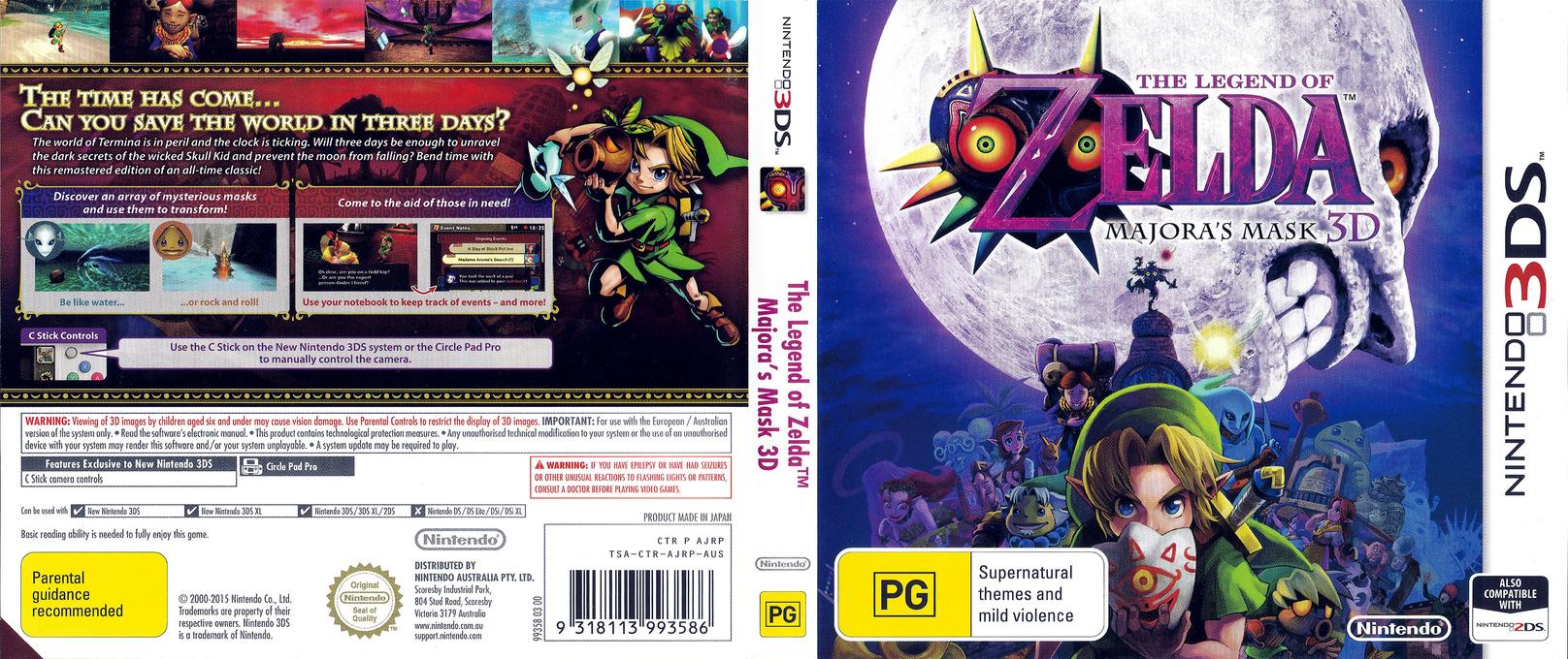 The Legend of Zelda - Majora's Mask 3D 3DS coverfullHQ (AJRP)