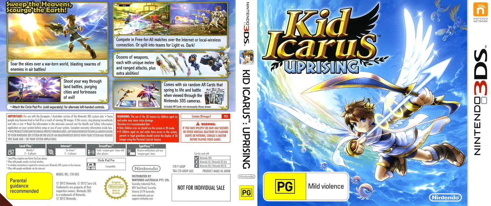Kid Icarus - Uprising 3DS coverfullHQ (AKDP)