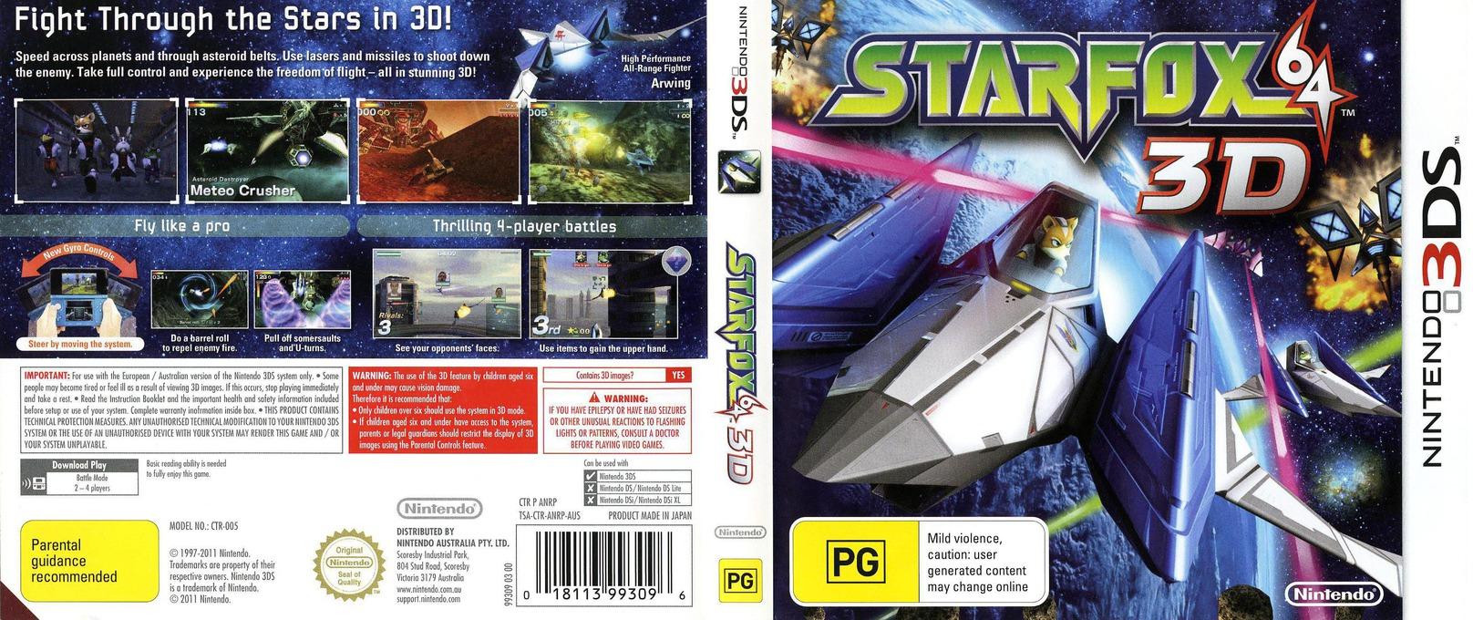 Star Fox 64 3D 3DS coverfullHQ (ANRP)