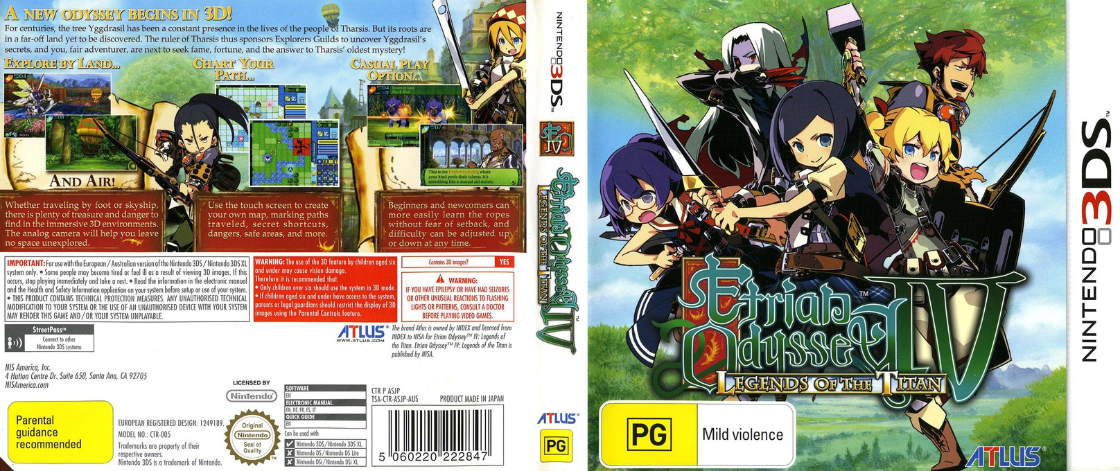 Etrian Odyssey IV - Legends of the Titan 3DS coverfullHQ (ASJP)