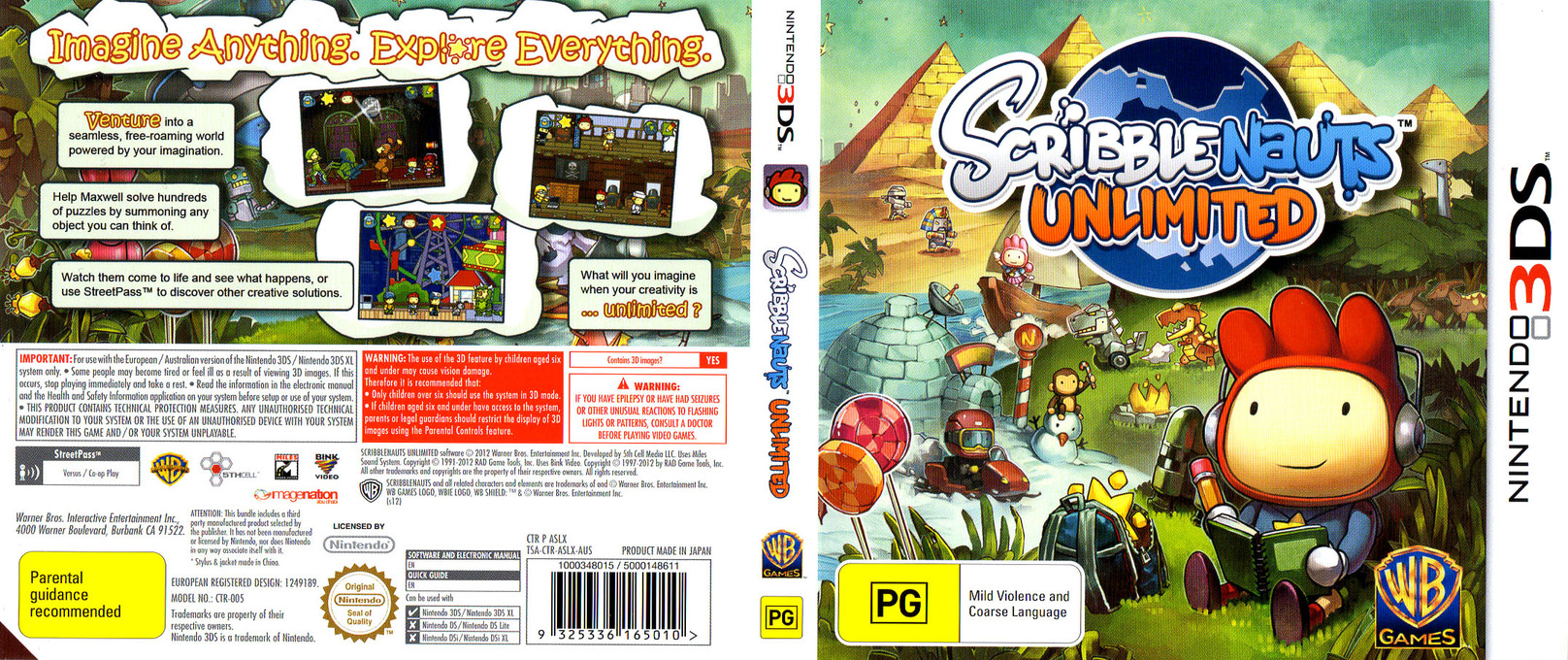 Scribblenauts Unlimited 3DS coverfullHQ (ASLX)