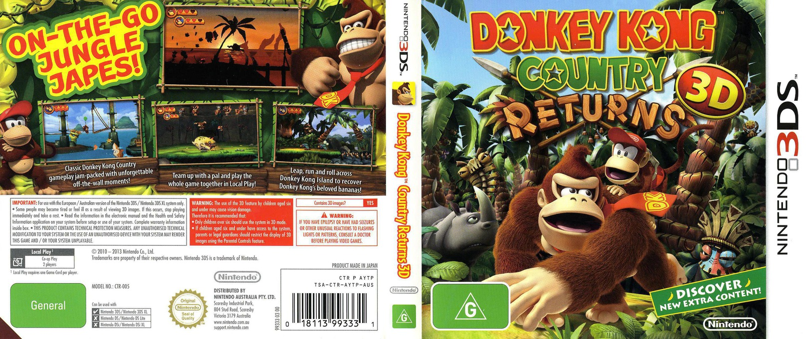 Donkey Kong Country Returns 3D 3DS coverfullHQ (AYTP)