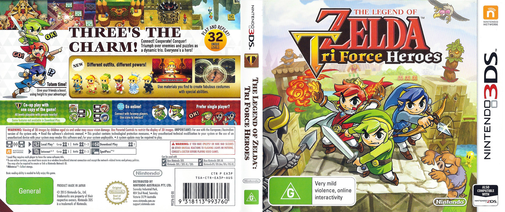 The Legend of Zelda - Tri Force Heroes 3DS coverfullHQ (EA3P)