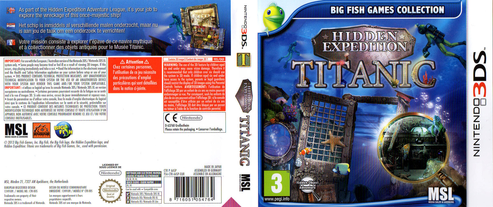 Hidden Expedition - Titanic 3DS coverfullHQ (AASP)
