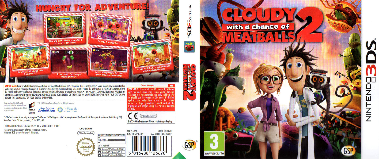 Cloudy with a Chance of Meatballs 2 3DS coverfullHQ (AD5P)
