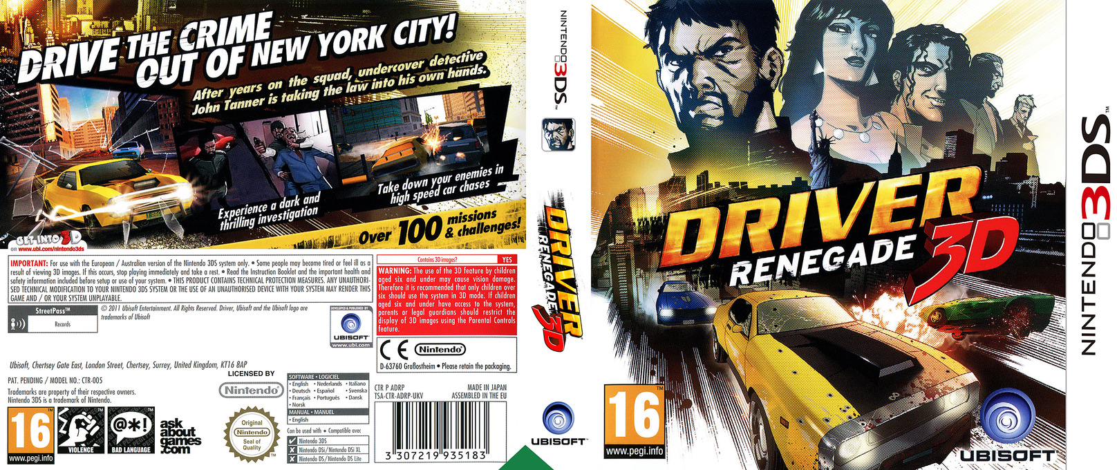 Driver Renegade 3D 3DS coverfullHQ (ADRP)