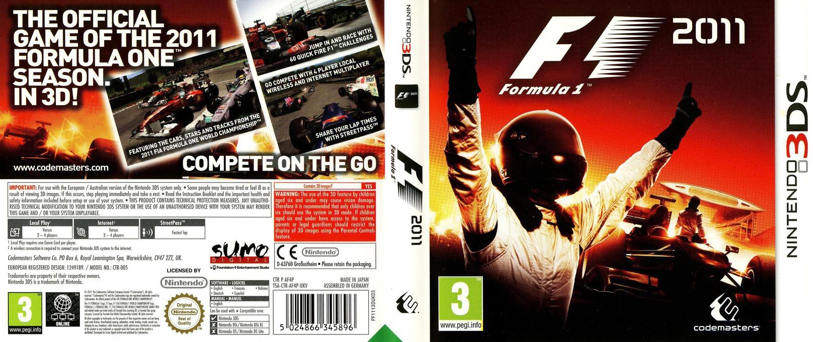 F1 2011 3DS coverfullHQ (AF4P)