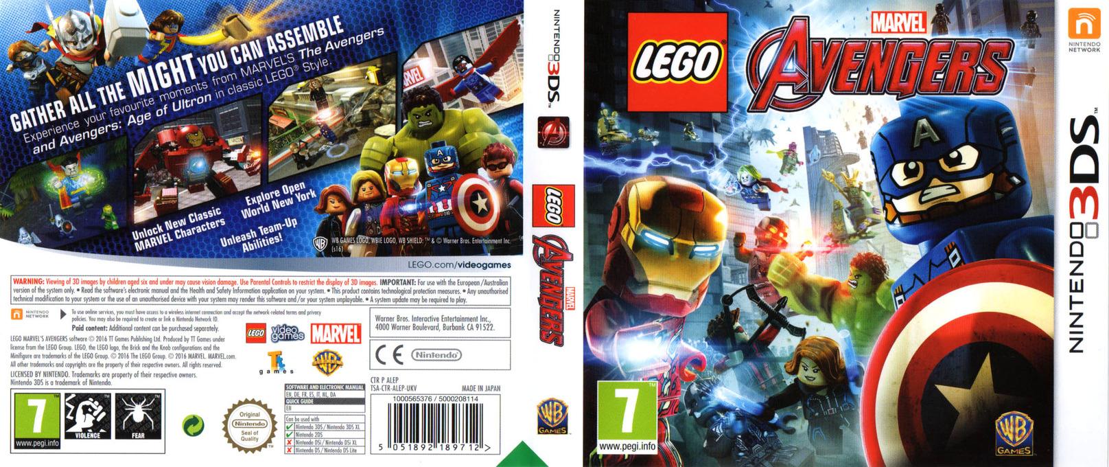 LEGO Marvel's Avengers 3DS coverfullHQ (ALEP)