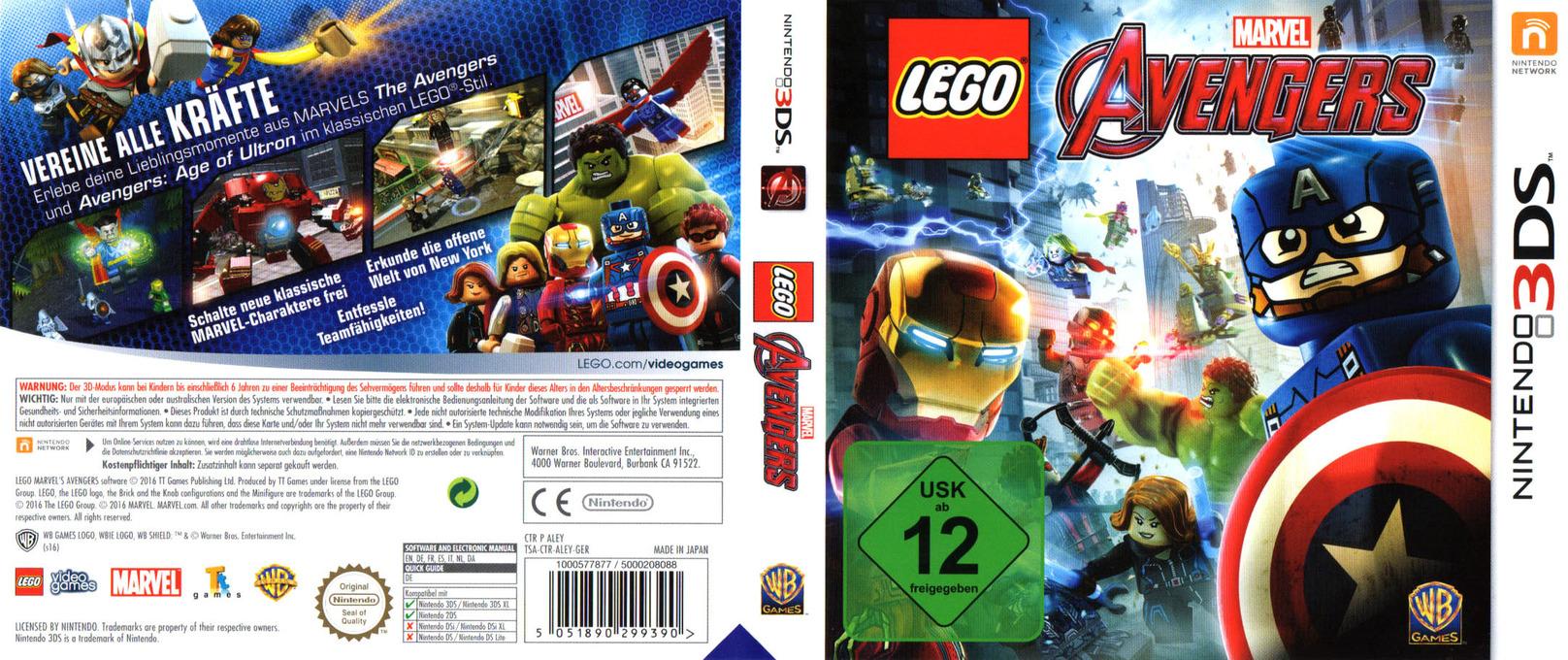LEGO Marvel's Avengers 3DS coverfullHQ (ALEY)