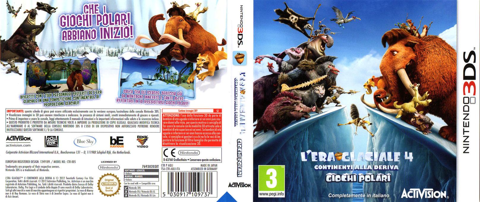 L'Era Glaciale 4 - Continenti alla Deriva - Giochi Polari 3DS coverfullHQ (AQLI)