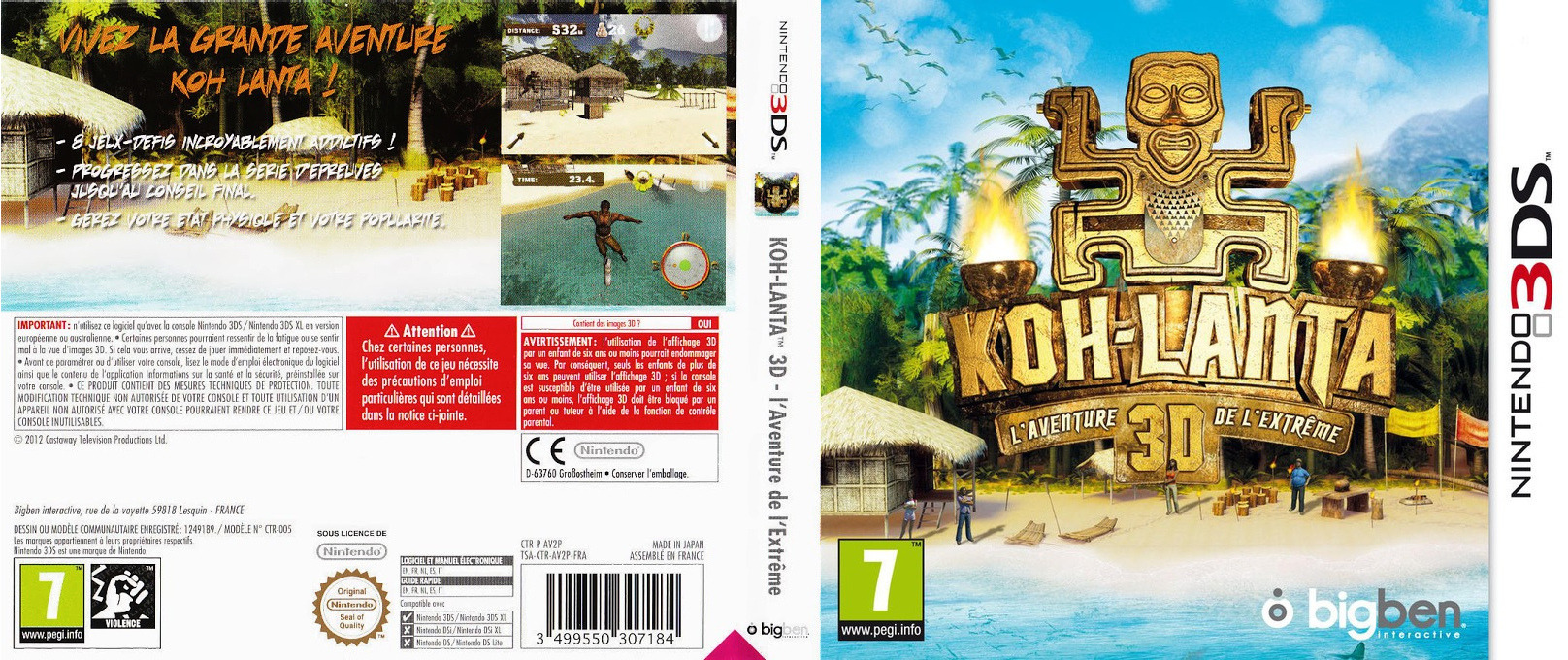 Survivor 3D - The Ultimate Adventure 3DS coverfullHQ (AV2P)