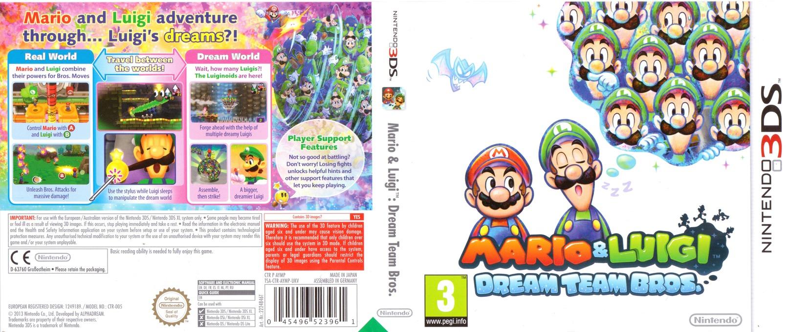 Mario & Luigi - Dream Team Bros. 3DS coverfullHQ (AYMP)