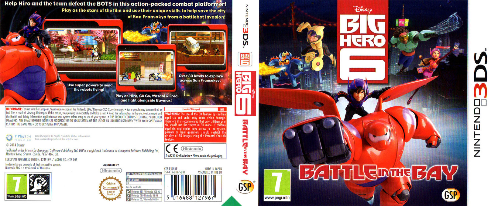 Big Hero 6 - Battle in the Bay 3DS coverfullHQ (BH6P)