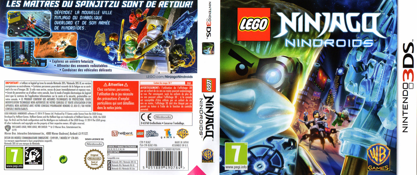 LEGO Ninjago - Nindroids 3DS coverfullHQ (BLNZ)