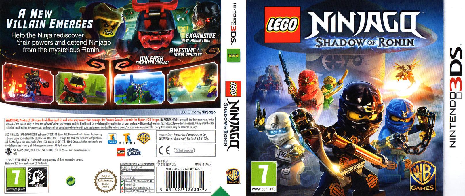 LEGO Ninjago - Shadow of Ronin 3DS coverfullHQ (BLSP)