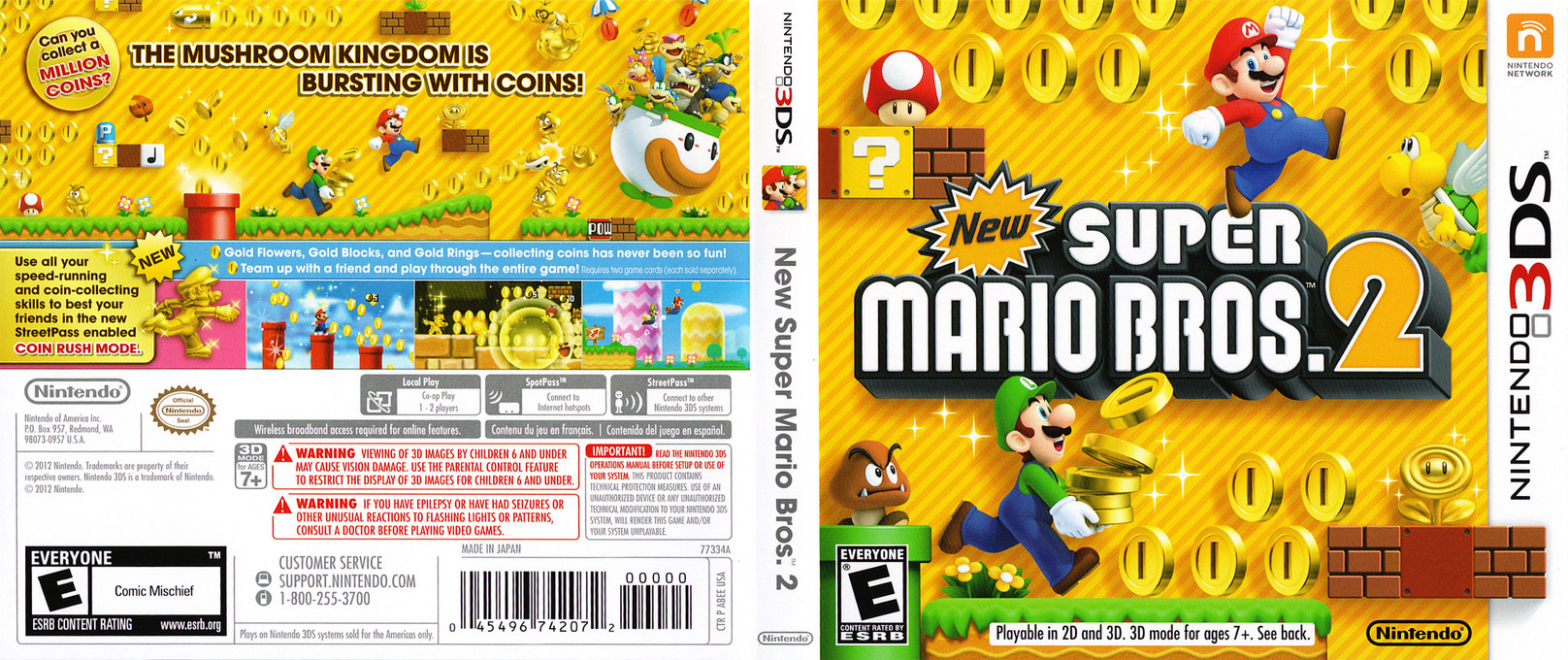 New Super Mario Bros. 2 3DS coverfullHQ (ABEE)