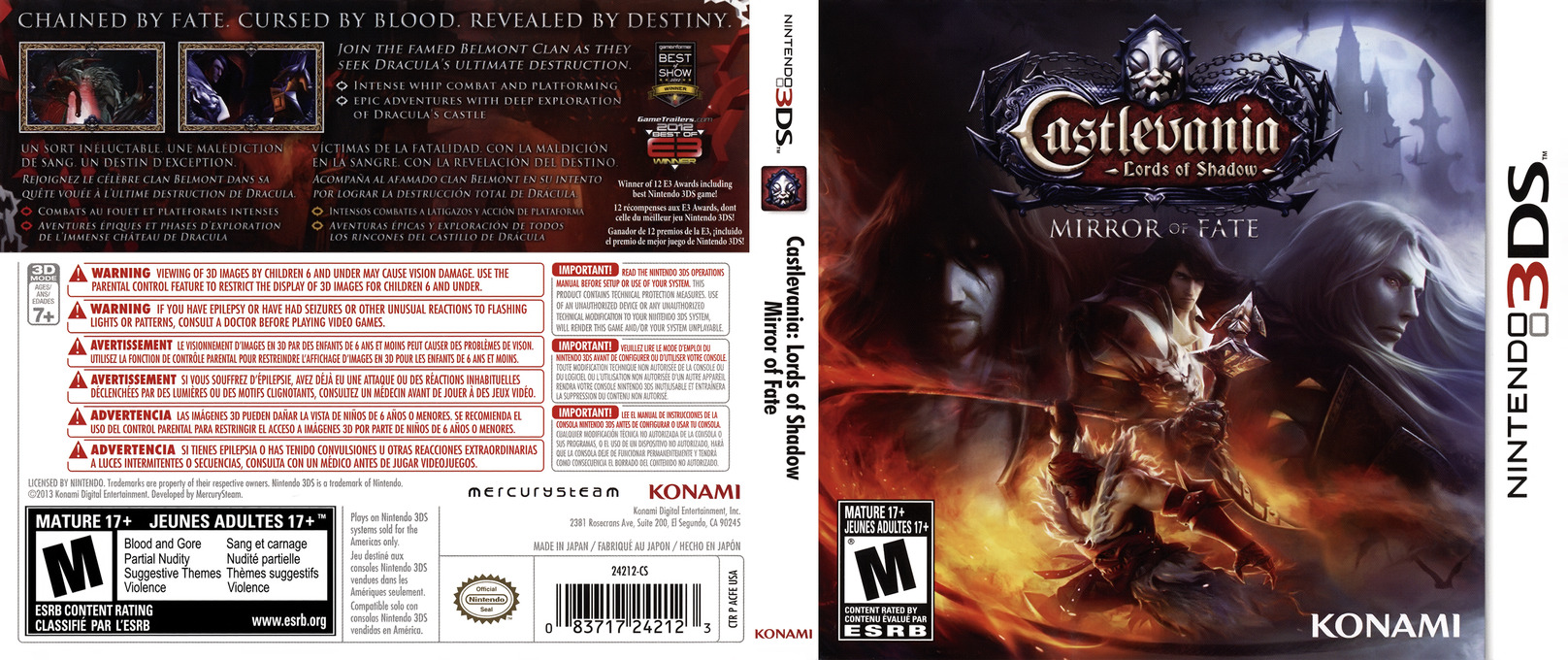 Castlevania - Lords of Shadow - Mirror of Fate 3DS coverfullHQ (ACFE)